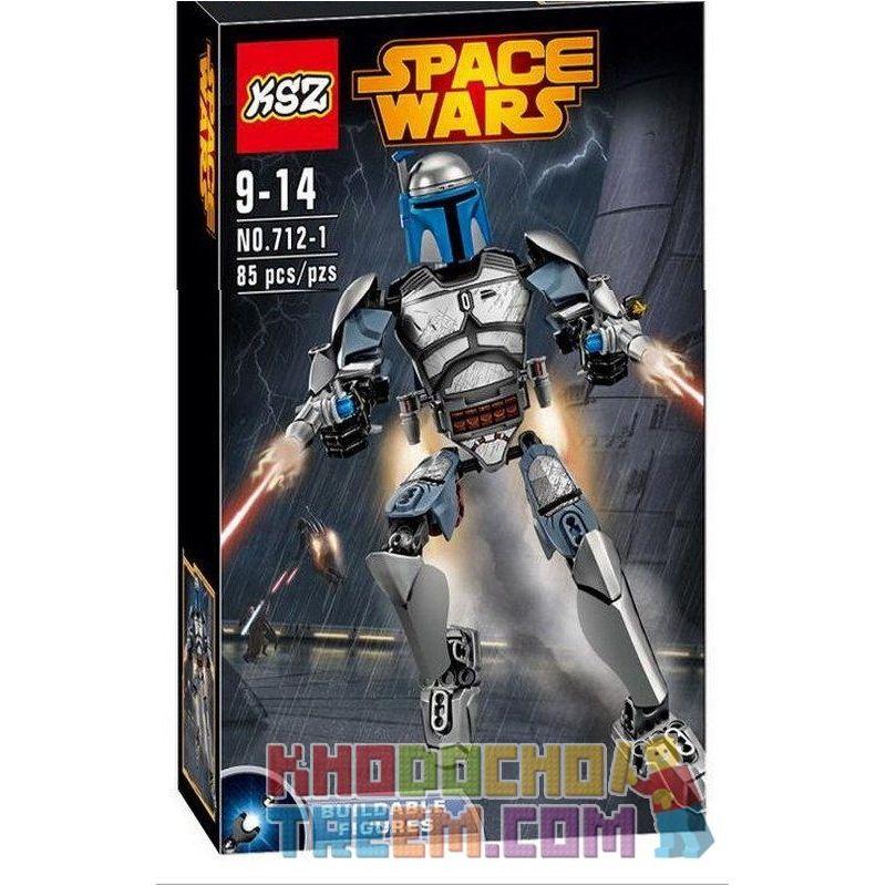 KSZ 712-1 XSZ Star Wars 75107 Jango Fett Xếp hình Tay săn tiền thưởng Jango Fett 85 khối