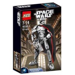 XSZ KSZ 605-4 Decool 9022 (NOT Lego Star wars 75118 Captain Phasma ) Xếp hình Đội Trưởng Phasma 82 khối
