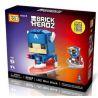 Loz 1401 BrickHeadz 41589 Captain America Xếp Hình Đội Trưởng Mỹ 142 Khối