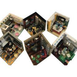 Xingbao XB-01401 Modular Buildings Design Interior For Various Rooms Xếp hình 6 Căn Phòng Sinh Hoạt 2186 khối