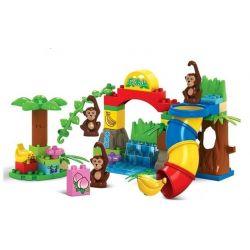 Jun Da Long Toys Jdlt 5010A (NOT Lego Duplo Crowded Monkey Zoo ) Xếp hình Sở Thú Vui Nhộn Của Khỉ 59 khối
