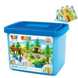Jun Da Long Toys Jdlt 5315A (NOT Lego Duplo Animal World Big Bucket ) Xếp hình Thế Giới Các Loài Động Vật 132 khối