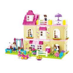 Jun Da Long Toys JDLT 5228A Friends House Of Friends Xếp Hình Ngôi Nhà Và Những Người Bạn 185 Khối