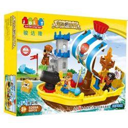Jun Da Long Toys JDLT 5269A Duplo Pirate's Ship Xếp Hình Con Tàu Hải Tặc 60 Khối