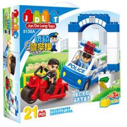 Jun Da Long Toys JDLT 5130A Duplo Hunting Robber Xếp Hình Cảnh Sát Truy Lùng Tên Cướp 21 Khối