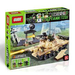 Gudi 600019A Military Army T-62 Tank Xếp Hình Xe Tăng T-62 Của Liên Xô 372 Khối