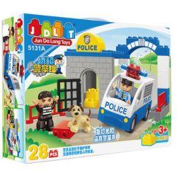 Jun Da Long Toys JDLT 5131A Duplo Dropping The Robber Xếp Hình Hạ Gục Tên Cướp 28 Khối