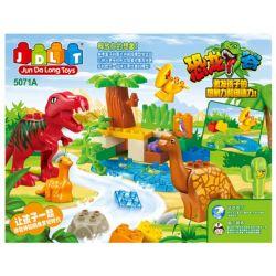 Jun Da Long Toys JDLT 5071A Duplo Jungle Of Dinosaurs Xếp Hình Khu Rừng Bí Ẩn Của Khủng Long 43 Khối