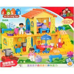 Jun Da Long Toys Jdlt 5045A (NOT Lego Duplo Our Little House ) Xếp hình Ngôi Nhà Vui Vẻ Của Bé 85 khối