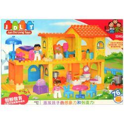 Jun Da Long Toys Jdlt 5046A (NOT Lego Duplo Our Little House ) Xếp hình Một Ngày Của Bé Và Bạn Trong Ngôi Nhà Nhỏ 76 khối