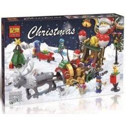 Winner Jemlou 20065 Christmas Santa's Sleigh Xếp hình Cỗ Xe Tuần Lộc Của Ông Già Noel 221 khối