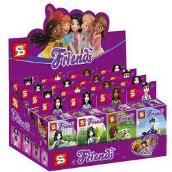 Sheng Yuan 1186 (NOT Lego Friends 8 Models Of Transportation For Girls ) Xếp hình Các Mẫu Phương Tiện Giao Thông Của Các Cô Gái gồm 8 hộp nhỏ 162 khối