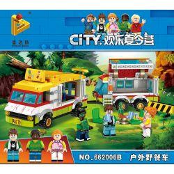 Panlosbrick 662006B (NOT Lego Summer Camp Outdoor Picnic Car ) Xếp hình Chuyến Xe Dã Ngoại Thú Vị 412 khối
