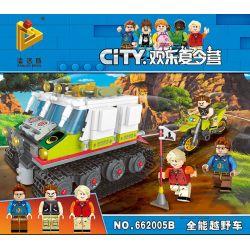 Panlosbrick 662005B (NOT Lego Summer Camp Off-Road Tank ) Xếp hình Xe Tăng Vượt Địa Hình 413 khối