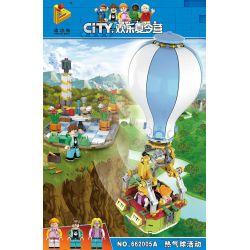 Panlosbrick 662005A (NOT Lego Summer Camp Hot Air Balloon Festival ) Xếp hình Lễ Hội Khinh Khí Cầu 336 khối