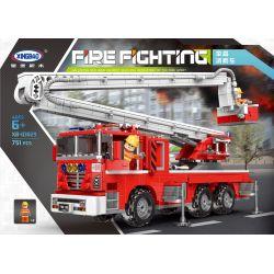 Xingbao XB-03029 Fire Truck Lift Up Fire Engine Truck Xếp hình Xe Cứu Hỏa Trục Nâng Thang Gập 751 khối