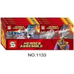 Sheng Yuan 1133 SY1133 Marvel Super Heroes Heroes Assemble Xếp Hình Siêu Anh Hùng Và Đồng Đội 482 Khối