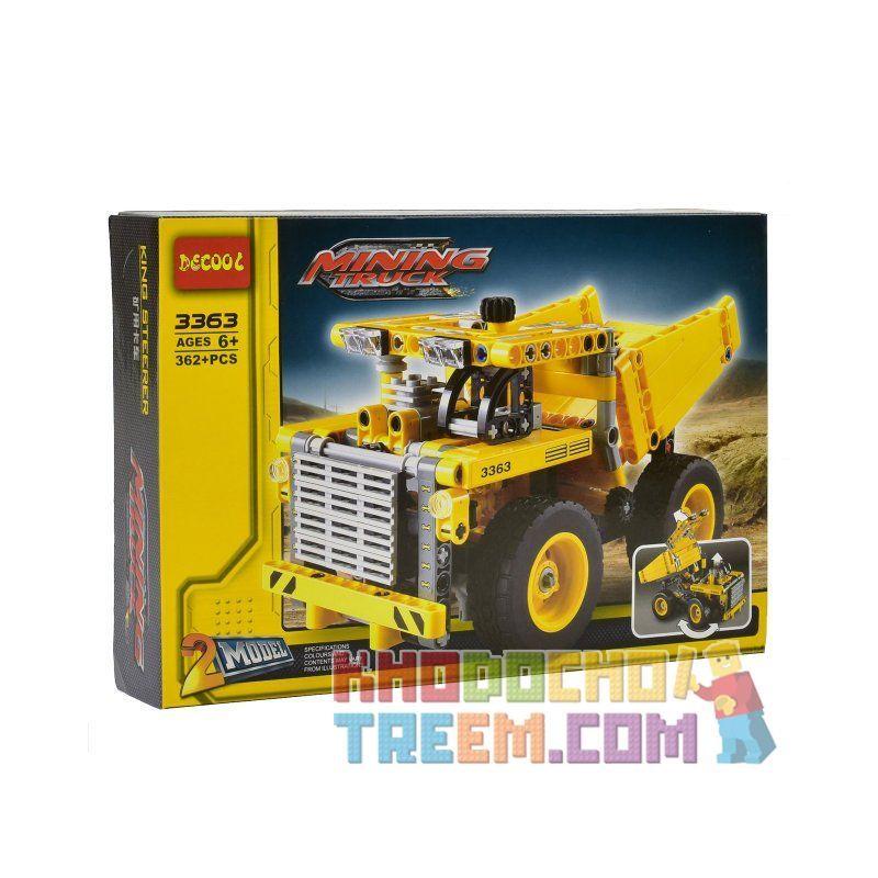 Decool 3363 Lele 38002 Yile 108A (NOT Lego Technic 42035 Mining Truck ) Xếp hình 2 Dạng Xe Tải Khu Mỏ 362 khối