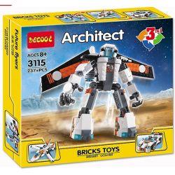 Decool 3115 Creator 3 In 1 31034 Future Flyers Xếp Hình Robot, Máy Bay Phản Lực, ô Tô đua 237 Khối