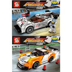 Sheng Yuan 6772C SY6772C 6772D SY6772D (NOT Lego Speed Champions 75912 Speed Champions:porsche 911 Gt Finish Line ) Xếp hình Xe Đua Cán Đích gồm 2 hộp nhỏ 551 khối