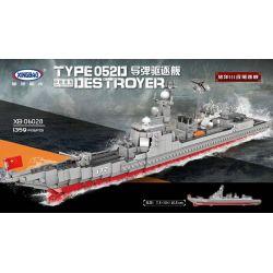 Xingbao XB-06028 Type 052D Derstroyer China's Air Cushion Missile Ship Xếp hình Tàu Chiến Phóng Tên Lửa Của Hải Quân Trung Quốc 1359 khối