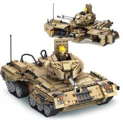PanlosBrick 635014 SWAT Special Force GunStrike Armed Hummer Xếp Hình Xe Thiết Giáp Quân Sự Hummer 448 Khối