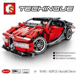 Sembo 701401 S701401 Technic Bucatti Chiron Xếp hình Siêu Xe Tối Thượng 422 khối