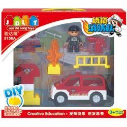 Jun Da Long Toys JDLT 5158A Duplo Firefighter Car Xếp Hình Chiếc Xe Cứu Hỏa 0 Khối
