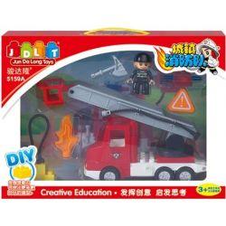 Jun Da Long Toys JDLT 5159A Duplo New Firefighter Car Xếp Hình Chiếc Xe Cứu Hỏa Đời Mới 0 Khối