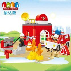 Jun Da Long Toys JDLT 5151A Duplo Happy And Hearty Firefighter Xếp Hình Những Chú Lính Cứu Hỏa Vui Vẻ 32 Khối