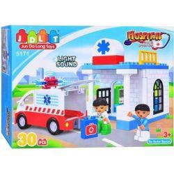 Jun Da Long Toys JDLT 5171A Duplo Happy Doctor's Day Xếp Hình Bác Sĩ Vui Vẻ 30 Khối