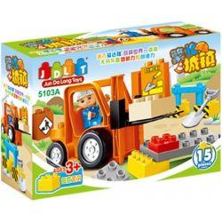 Jun Da Long Toys JDLT 5103A Duplo Uncle Road Workers Xếp Hình Chú Công Nhân Cầu Đường Vất Vả 15 Khối
