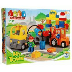 Jun Da Long Toys JDLT 5111A Duplo Constructing Road For The City Xếp Hình Xây Dựng Cầu Đường Cho Thành Phố 43 Khối