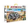 Panlosbrick 631008 Justice Action Hunting Tiger Heavy Eviction Tank Xếp hình Xe Tăng Đầu Pháo Hủy Diệt 1735 khối
