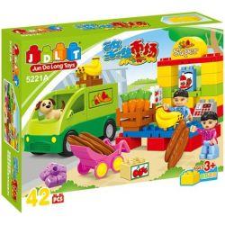 Jun Da Long Toys JDLT 5221A Duplo Go To Market With Puppy Xếp Hình Đi Siêu Thị Với Cún Cưng 42 Khối