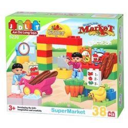 Jun Da Long Toys JDLT 5220A Duplo Ready To Go The Market With Kids Xếp Hình Bé Tập Đi Chợ 38 Khối