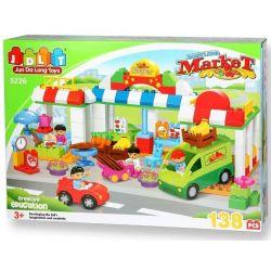Jun Da Long Toys JDLT 5226A Duplo Crowded Market Xếp Hình Buổi Chợ Chiều Đông Vui 138 Khối