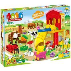 Jun Da Long Toys JDLT 5209A Duplo Kids At Fun Farm Xếp Hình Cùng Bé Chăm Sóc Nông Trại 60 Khối