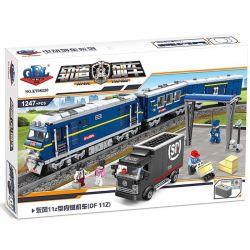 Gao Bo Le Gbl KY98220 (NOT Lego Creator Dongfeng 11Z Diesel Locomotive ) Xếp hình Đầu Máy Xe Lửa Chạy Bằng Diesel Động Cơ Pin 1247 khối