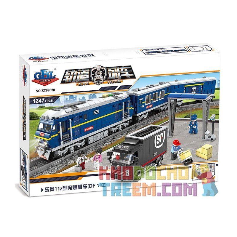 Gao Bo Le Gbl KY98220 Creator Dongfeng 11Z Diesel Locomotive Xếp hình Đầu Máy Xe Lửa Chạy Bằng Diesel 1247 khối