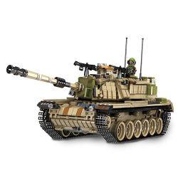 Panlosbrick 632004 Tank World M60 Magach Xếp hình Xe Tăng Chiến Đấu Chủ Lực Của Israel 1753 khối