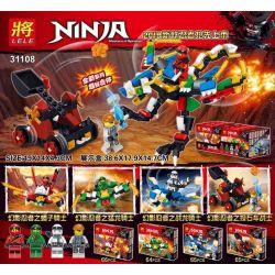 Lele 31108 Ninjago Movie Xếp Hình 4 Ninja Cưỡi Rồng 264 Khối