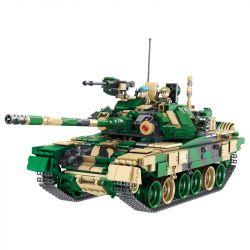 PanlosBrick 632005 Tank World T-90 Main Battle Tank Xếp Hình Xe Tăng Đánh Chiến Trường Chính 1773 Khối