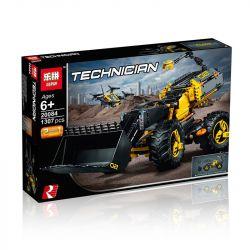 Lepin 20084 Decool 3380 (NOT Lego Technic 42081 Volvo Concept Wheel Loader Zeux ) Xếp hình Máy Thi Công Xúc Đất Tự Động 1167 khối