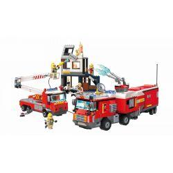 Enlighten 2810 Fire Rescue Fire Truck Team Xếp hình Đội Cứu Hỏa Giải Cứu Ngôi Nhà Cháy 996 khối
