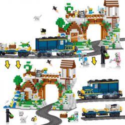 Lele 33173 Minecraft Electric Train Comes To Town Xếp hình Tàu Điện Về Thị Trấn 1080 khối