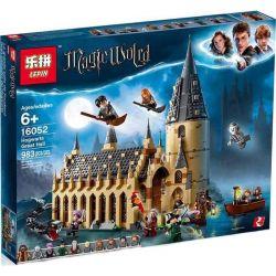 Lepin 16052 Bela 11007 Lele 39144 Sheng Yuan 1205 Harry Potter 75954 Hogwarts Great Hall Xếp hình Lâu Đài Hogwarts 878 khối