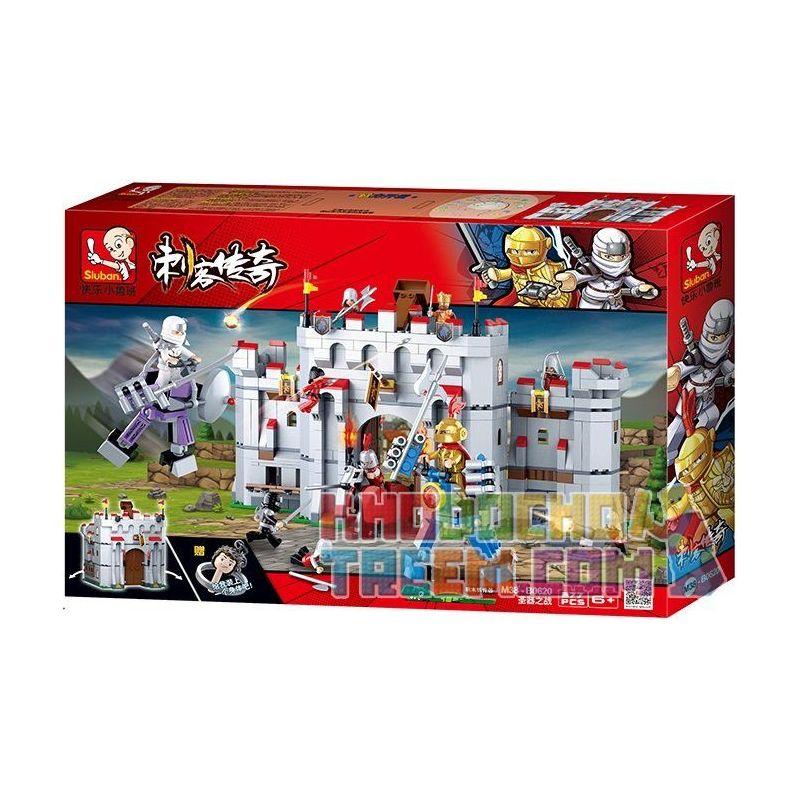 Sluban M38-B0620 Castle Xếp hình Trận Chiến Của Ninja Sát Thủ 877 khối