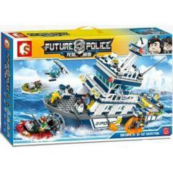 Sembo 9796 SD9796 Ships Future Police Xếp hình Tàu Tuần Tra Của Cảnh Sát 869 khối