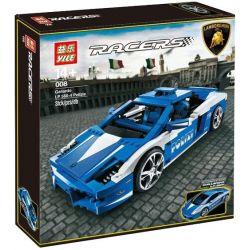 Yile 008 Cars 8214 Lamborghini Polizia Xếp hình Ô Tô Thể Thao Thời Thượng 801 khối